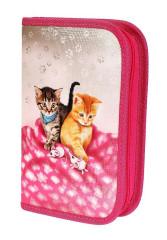 Školní penál 1-klopa prázdný CATS & MICE, Emipo
