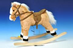 Houpací kůň plyš 60 cm na baterie se zvukem Wiky