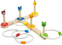 Hra dřevěná házení kroužky Viga