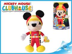 Mickey Mouse závodník plyšový 30cm na baterie se zvukem 12m+