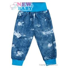 Kojenecké tepláčky s kapsami New Baby Light Jeansbaby modré vel. 74
