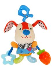 Plyšová hračka s hracím strojkem Baby Mix - Králíček červený