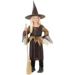 Karnevalový kostým - Čarodějnice Vel. 130-140cm