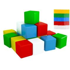 Barevné stavební extra velké kostky 20 ks pro nejmenší