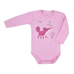 Kojenecké body s dlouhým rukávem Koala Happy Baby růžové