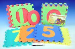 Pěnové puzzle Čísla 29 x 29 cm 10ks