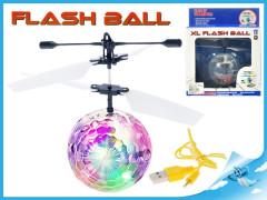Helikoptéra míček Diamond XL 14cm svítící reagující na pohyb ruky s USB kabelem