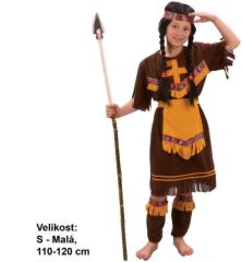 Kostým na karneval - indiánka, 110 - 120 cm
