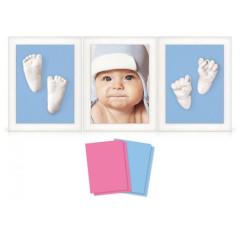 3D Memories odlévací sada baby pro 3D odlitek ručiček a nožiček - tři bílé rámečky