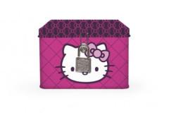 Plechová pokladnička se zámkem Hello Kitty