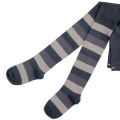 Dětské punčocháče Design Socks vel. 1 (12 - 24 měs) ŠEDÉ PROUŽKOVANÉ