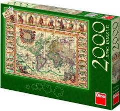 Puzzle historická mapa světa 97x69cm 2000 dílků