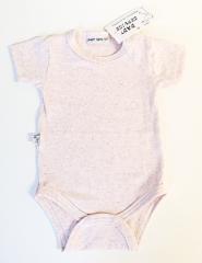 Bavlněné body krátký rukáv Melírek Baby Service Růžová