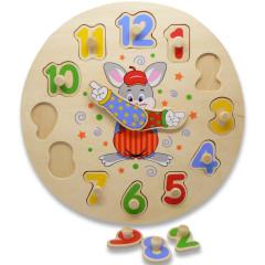 Vkládačka hodiny klaun,zajíc