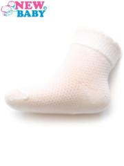 Kojenecké ponožky se vzorem New Baby bílé Vel. 56 - 86