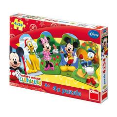 Puzzle Mickeyho klubík 4x54dílků