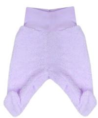 Fleecové polodupačky Baby Service Pinguin fialové Bez rozepínání