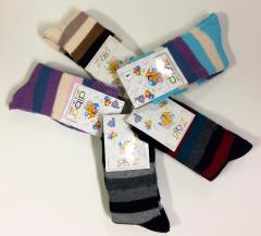 Kojenecké bavlněné ponožky proužkované Diba vel. 1 (20-22)