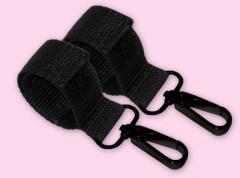 Karabiny k bezpečnému zavěšení tašky na rukojeť kočárku PLAST