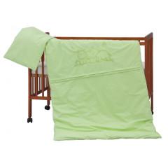 Dětské povlečení 2dílné - Scarlett Hrošík - zelené 100 x 135 cm
