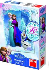 Puzzle Ledové království Frozen 33x47cm 200 dílků+lepidlo+kamínky