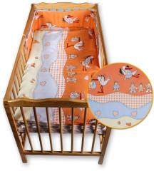 Dětské povlečení 2 dílné Čápi oranžová 135 x 100 cm