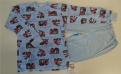 Bavlněné pyžamo požárnící modré vel. 104