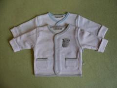 Bavlněný kabátek dvouvrstvý HROCH Baby Service vel. 80 Modrý