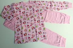 Bavlněné pyžamo růžové LITTLE PRINCESS Vel. 86