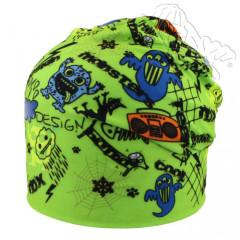 Oboustranná čepice s neon. příšerkami zelená RDX