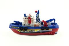 Loď/Člun plast 25 cm na baterie stříkající vodu