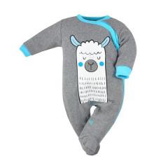 Kojenecký overal Koala Lama šedo-modrý