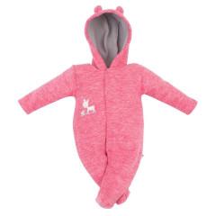 Zimní kombinéza fleece Koloušek Baby Service Růžová