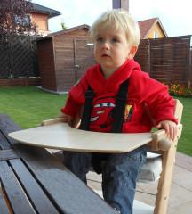 Pultík s područkami a botičkami k židli Baby Jitro