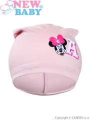 Podzimní dětská čepička New Baby Minnie starorůžová vel. 110
