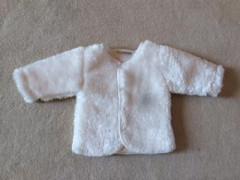 Zimní kabátek s podšívkou wellsoft bílý Baby Service