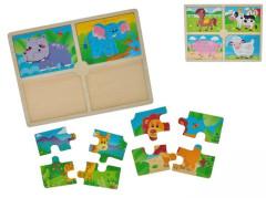 Puzzle dřevěná zvířátka 12m+