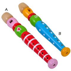 Flétna dřevěná barevná