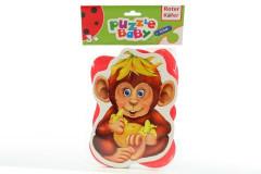 Baby pěnové puzzle opice-slon