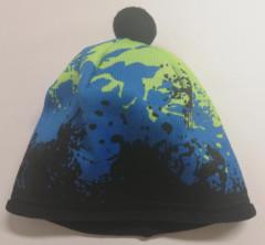 Zimní chlapecká čepice fleece kaňky neon. zelené RDX