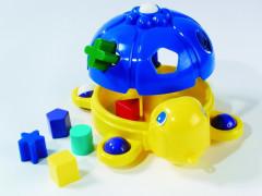 Vkládačka želva tahací plast 32cm v sáčku