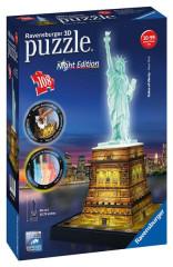 Puzzle Socha Svobody 3D (Noční edice) 108 dílků