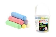 Křídy barevné chodníkové 12ks v kbelíku