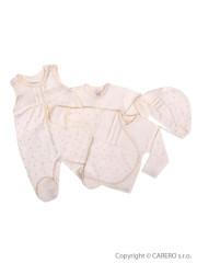 4-dílná kojenecká souprava Koala Amorek béžová s hvězdičkami vel. 62
