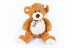 Medvěd plyš 80 cm s mašlí světle hnědý