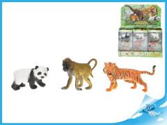 Zvířátka divoká 3ks 7-9,5cm