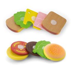 Dřevěný hamburger a sendvič Viga