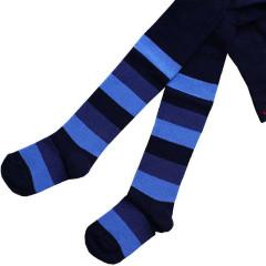 Dětské punčocháče Design Socks vel. 3 (2-3 roky) modré proužkované