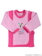 Kojenecká košilka Bobas My puppy růžová vel. 62