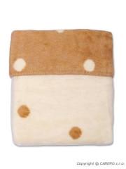 Dětská deka Womar puntíky 75x100 hnědá